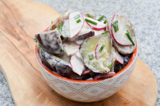 New Potato & Radish Salad w Truffle Oil Dressing-3
