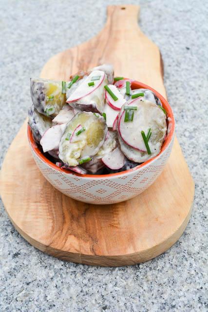 New Potato & Radish Salad w Truffle Oil Dressing-4