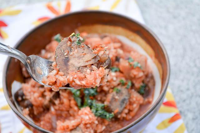 Spiralized Turnip, Mushroom, and Tomato Risotto-2