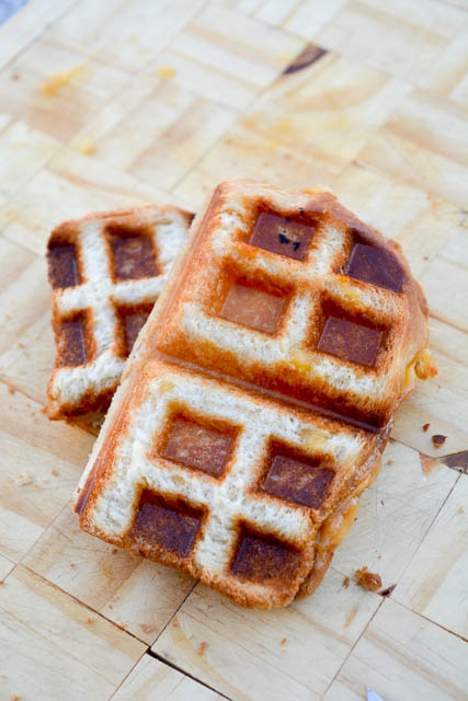 Waffle Iron Grilled Cheese-3
