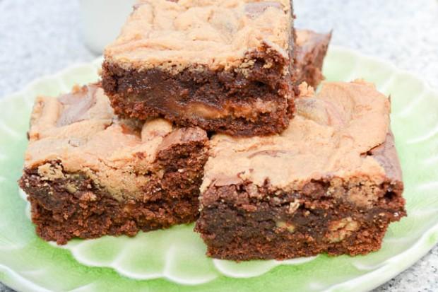 Peanut Butter Swirl Brownies-1