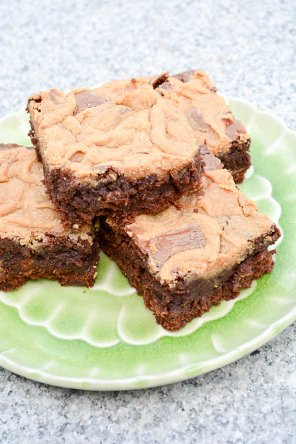 Peanut Butter Swirl Brownies-3