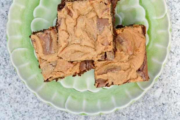 Peanut Butter Swirl Brownies-4