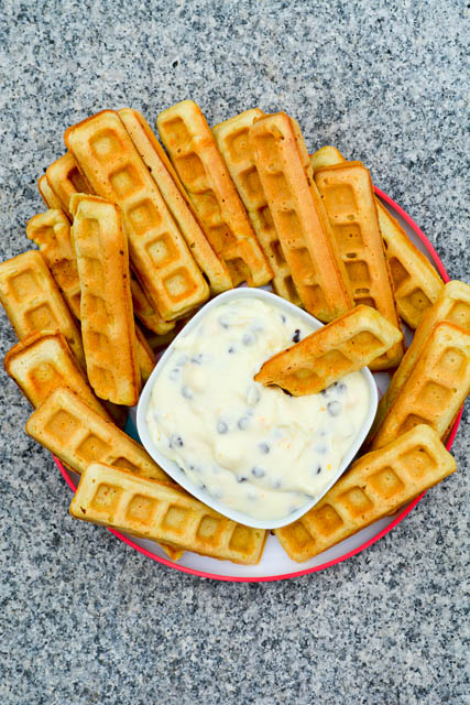 Waffle Sticks with a Cannoli Dip-2
