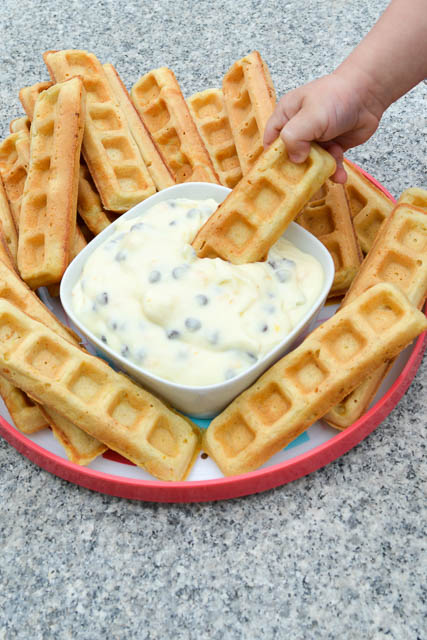 Waffle Sticks with a Cannoli Dip-3