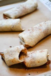 Chocolatey Banana Dessert Burritos