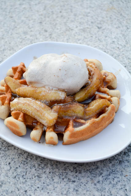 Banana's Foster Waffles-3