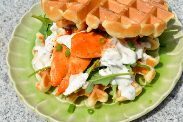 Buffalo Chicken Waffle Sandwich-3