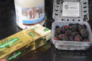 Overnight Yeast Waffles Blackberry Compound Butter-9