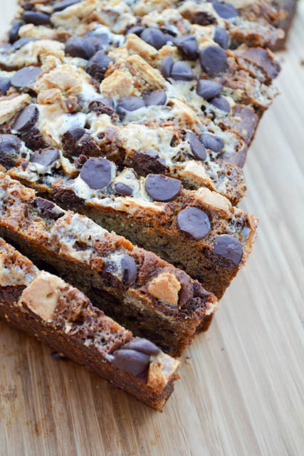 ... make a version of my favorite banana bread that was s'mores-a-fide