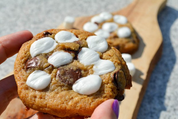 S'mores Chocolate Chip Cookies-4