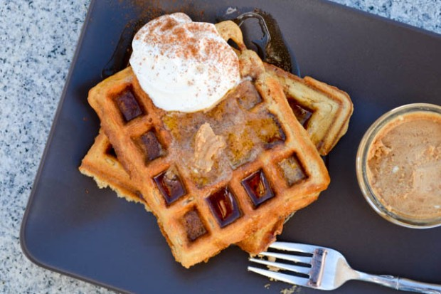 Oatmeal Waffle with Chai Infused Whipped Butter-1