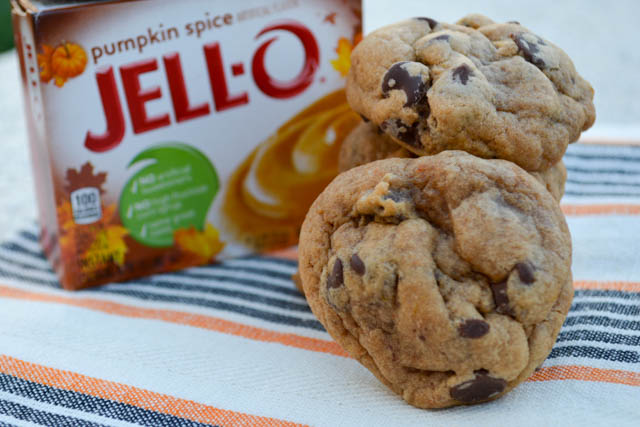 Pumpkin Pie Spice Chocolate Chip Pudding Cookies-4