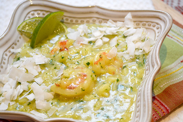 Shrimp and Curried Coconut Risotto_01
