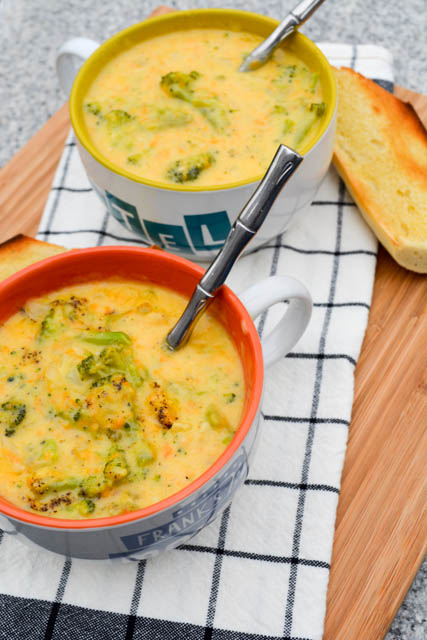 Broccoli Cheddar Soup for Two-2
