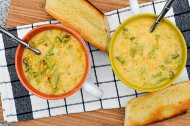 Broccoli Cheddar Soup for Two-4