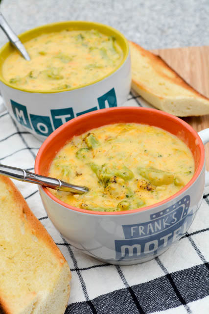 Broccoli Cheddar Soup for Two