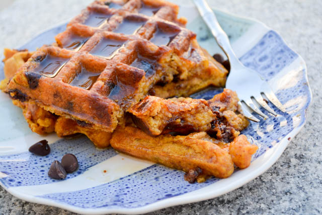 Chocolate Chip Pumpkin Waffles-2