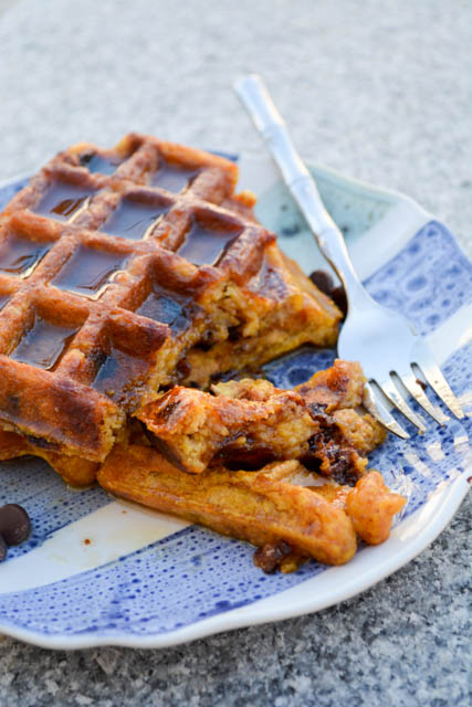 Chocolate Chip Pumpkin Waffles-3