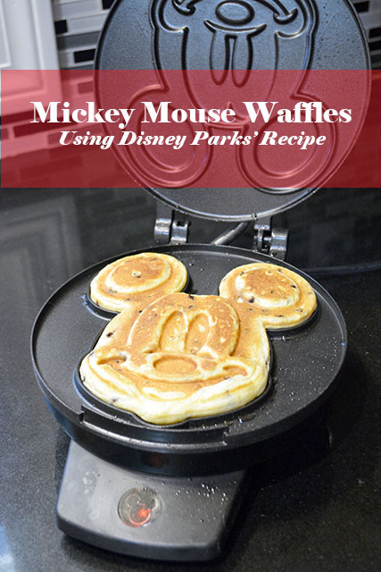 Chocolate Chip Mickey Mouse Waffles Using Disney Parks