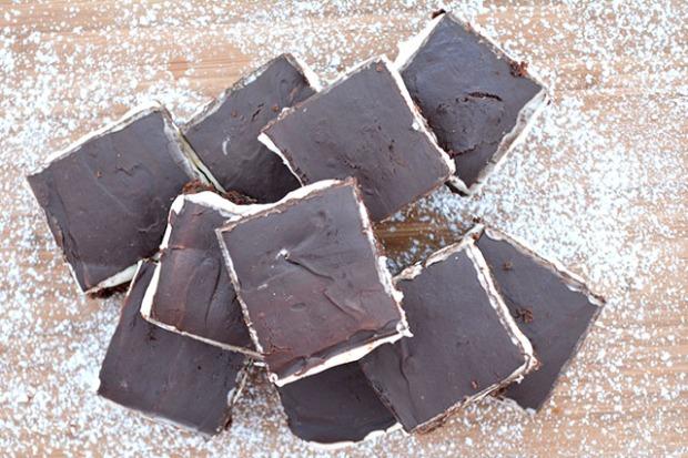Peppermint Pattie Brownies