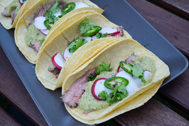 Carne Asada Tacos with Roasted Tomatillo Salsa-1
