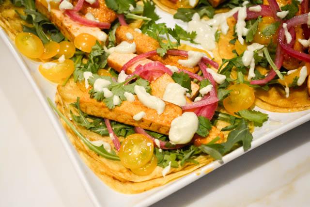 Chipotle Tofu Tacos with Jalapeno Crema