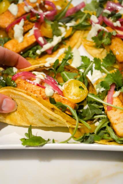 Chipotle Tofu Tacos with Jalapeno Crema-2