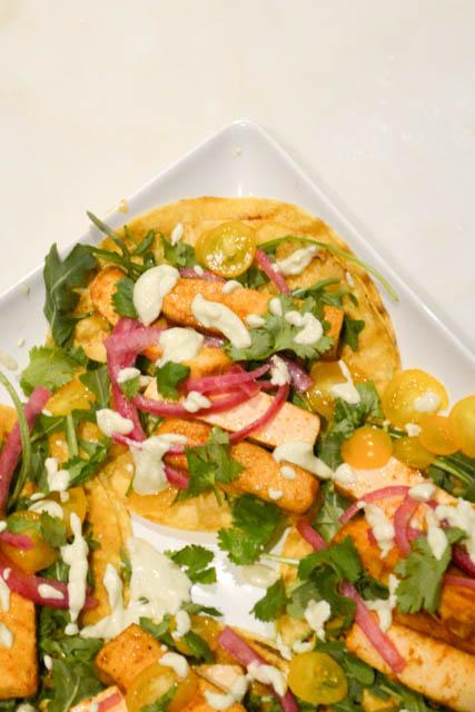 Chipotle Tofu Tacos with Jalapeno Crema-4