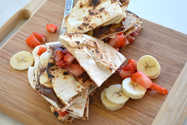 Quick Dessert Quesadillas
