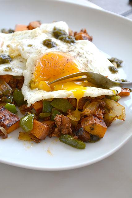 Chorizo and Sweet Potato Breakfast Hash