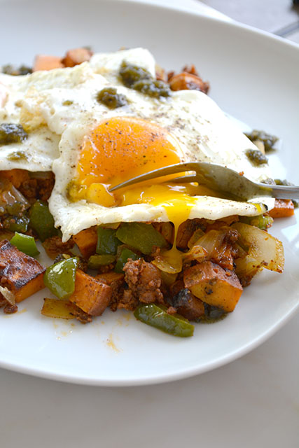 Chorizo and Sweet Potato Breakfast Hash