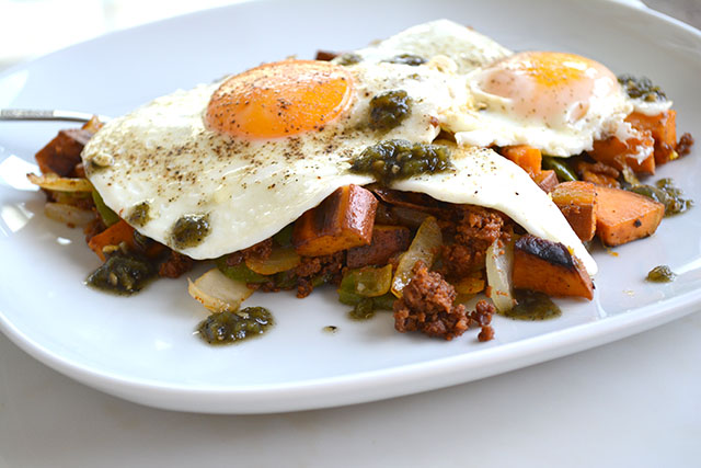 Chorizo and Sweet Potato Breakfast Hash_01