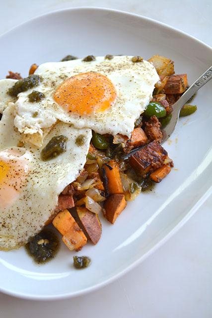 Chorizo and Sweet Potato Breakfast Hash_05