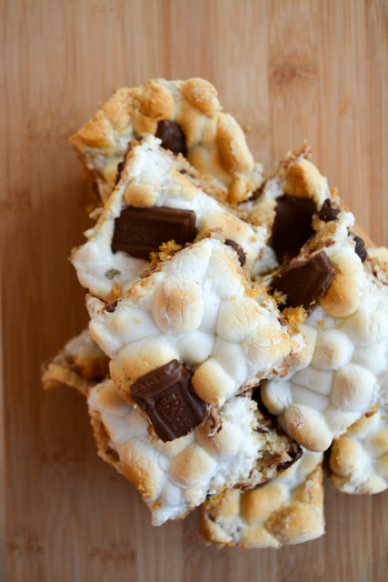 Smores Chocolate Chip Cookie Bars