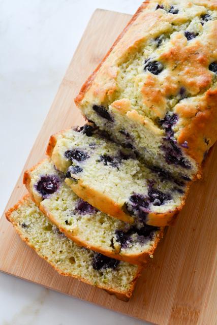 Blueberry Buttermilk Zucchini Bread