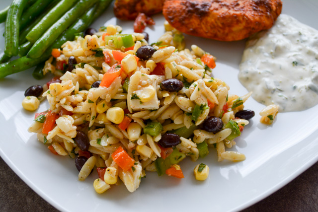 Southwest Orzo Salad with a Cilantro Lime Vinaigrette-3