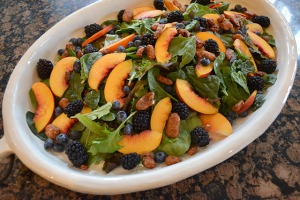 Nectarine and Berry Topped Salad with Pecans and Gorgonzola_08