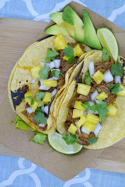 Slow Cooker Tacos Al Pastor_