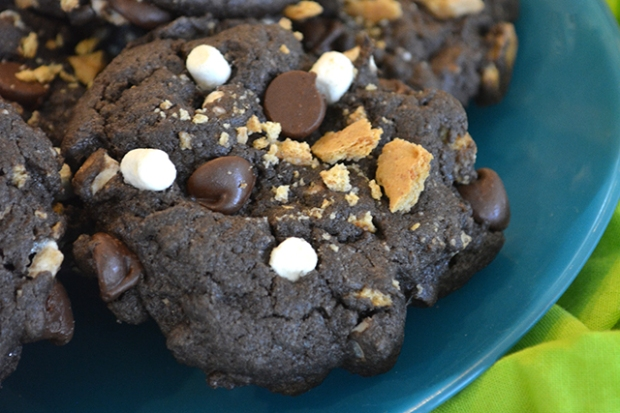S'mores Cake Mix Cookies